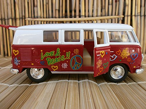 1962 CLASSIC VW LOVE & PEACE SURFBOARD LONGBOARD VAN BEACH OLE LOGO BUS - Logo B Sunglasses