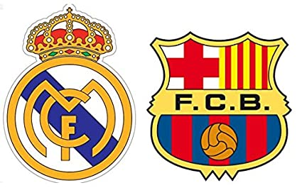 Fc Barcelona Stickers.Amazon Com Pos1711 Spain Classico Wall Decals Real Madrid