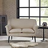 Rolled Arm Settee Davenport/Cream/Morrocco