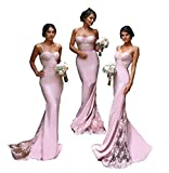 Fashionbride Women's Sexy Bridesmaid Dresses Mermaid Long 2017 Formal Evening Gowns F279