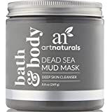 ArtNaturals Dead Sea Mud Mask - for Face, Body & Hair - 100% Natural and Organic Deep Skin Cleanser - Clears Acne, Reduces Pores and Wrinkles, Ultimate Spa Quality, Mineral Infused Additive Free - 8.8 oz / 260 ml.