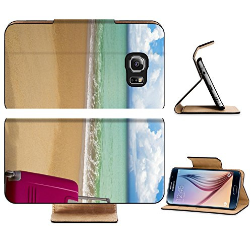 Luxlady Premium Samsung Galaxy S6 Edge Flip Pu Leather Wallet Case IMAGE 24386654 Beautiful girl with a bag in a - Brunette In Sunglasses