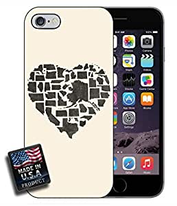 USA States Heart Map Cute iPhone 6 Hard Case