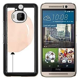 Stuss Case / Funda Carcasa protectora - Globo melocotón rosado minimalista blanca profunda - HTC One M9+ M9 Plus