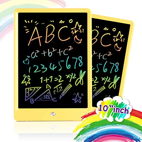 Orsen Drawing Tablet 10 Inches LCD Writing Tablet,Magnetic Colorful Writing Sketching Pad Doodle Board Toy,Educational Kids Toys for Girls Boys Toddler Gift (Yellow)