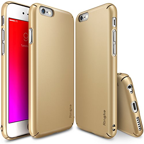 Ringke Slim Compatible with iPhone 6S Case Full Coverage on All 4-Sides & Back Super Lightweight All Around Protection Hard Case for iPhone 6S - Royal Gold