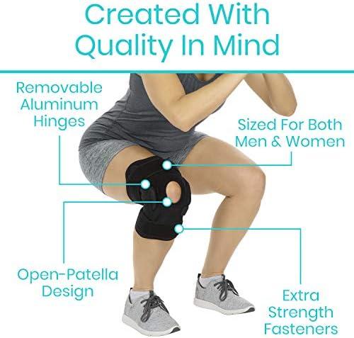 Rodillera con bisagras por vive – ajustable apoyo para rodilla ...