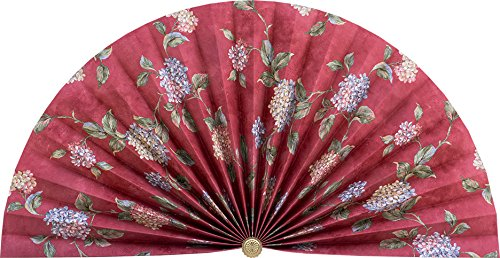 Neat Pleats Decorative Fan, Hearth Screen, or Overdoor Wa...