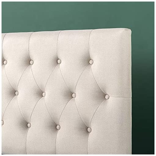 Bedroom ZINUS Trina Upholstered Headboard / Button Tufted Upholstery / Adjustable Height / Easy Assembly, Taupe, Full modern headboards