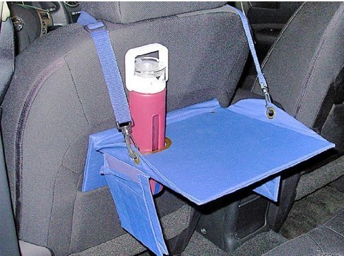 Car Play Tray Table - Portable Back Seat Travel Lap Desk (Blue)