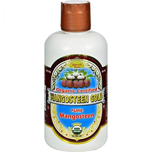 Dynamic Health Mangosteen Gold- 100% Pure Organic Certified Mangosteen Juice, 32-Ounce Bottle by Dynamic Health (Pure Organic Mangosteen Juice)