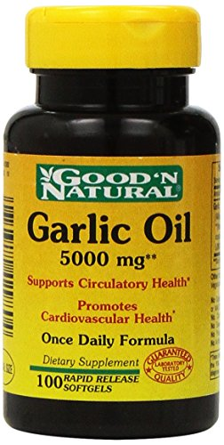 Garlic Oil 5000mg - 100 softgels,(Good'n Natural)