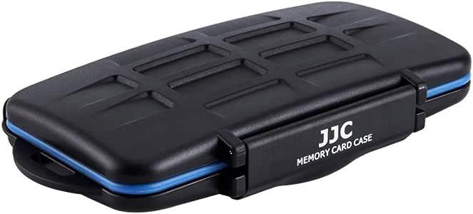 JJC Estuche Impermeable para 36 Ranura Tarjetas de memorias: 18 x Tarjetas Micro SD SDHC SDXC + 12 x Tarjetas SD + 6 x Tarjetas Compact Flash CF con mosquetón: Amazon.es: Electrónica