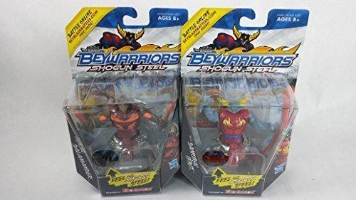 Beyblade Shogun Steel BeyWarriors BW-02 Ninja Salamander Battler and BW-01 Samurai Ifrit