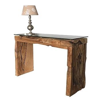 Dasmöbelwerk Konsolentisch Konsole Tisch Massiv Aus Teak Wurzelholz