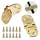 antique sewing machine table 2pcs Brass Butler Tray Hinge, 180 Degree Heavy Duty Flip Top Hinge with Screws Ideal for Folding Wings, Sewing Machine Table, Computer Desk, Roll-Top Desk