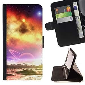 For Motorola Moto E ( 2nd Generation ) Case , Sunset Beautiful Nature 39- la tarjeta de Crédito Slots PU Funda de cuero Monedero caso cubierta de piel