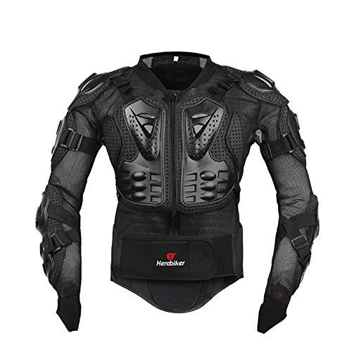Herren Motorrad Schutzkleidung Knieschutz Protektorenjacke Motorrad Motocross Skatebording protektoren Armour. (L, Black)