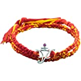 Fourseven Wrap Around Moli Bracelet with 925 Sterling Silver Ganesha Pendant for Men and Women