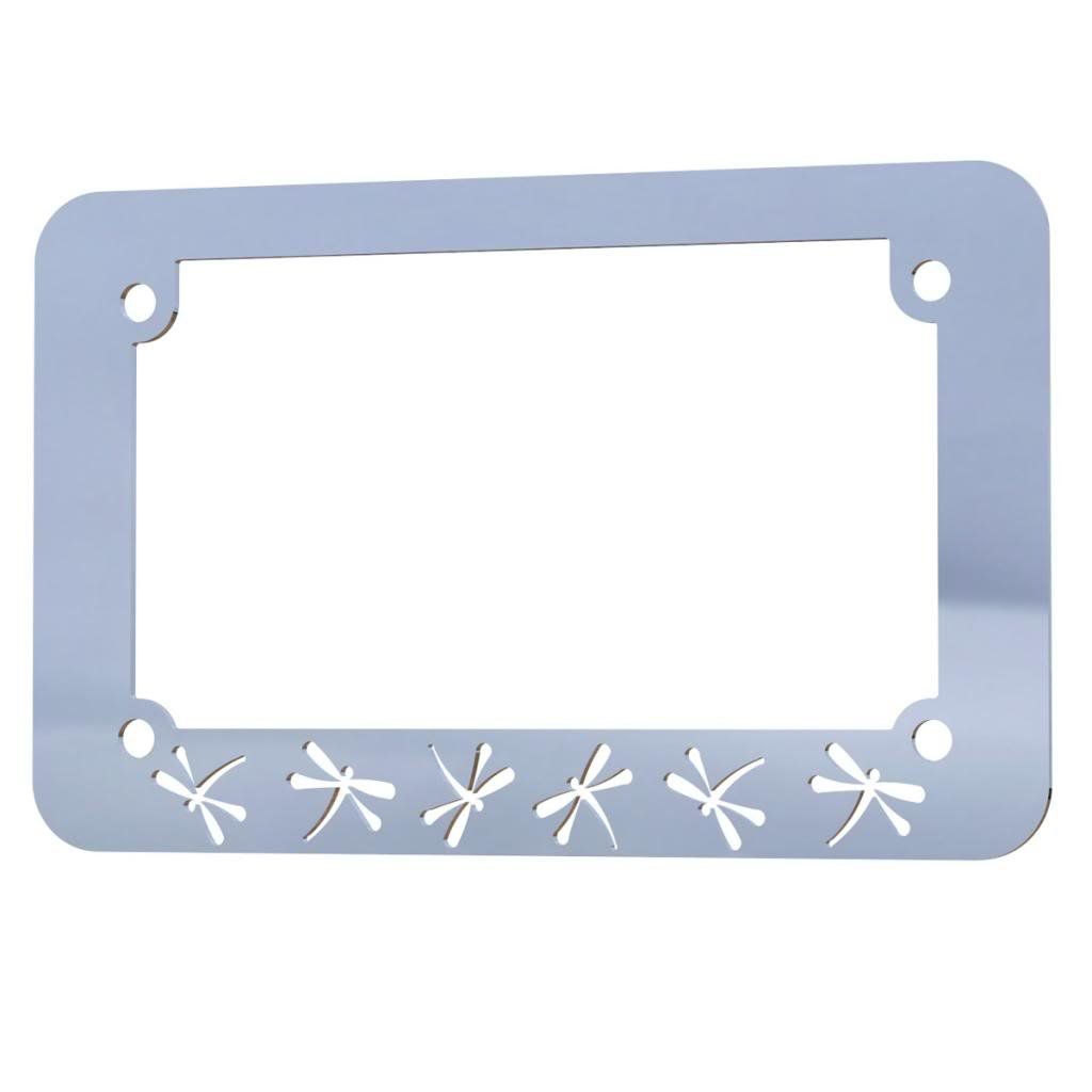 Chrome Palm Tree Paradise Canada Motorcycle License Plate Frame 1 Piece