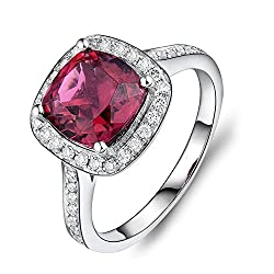 White Gold With Pink Tourmaline Diamond Band