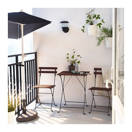 Ikea - Mesa de jardín tärnö con 2 sillas Acacia Color Marrón Oscuro ...