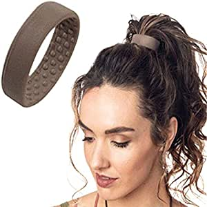 Women Hair Tie,Silicone Hair Tie Elastic Bands Ponytail Holder Multifunction Foldable Hair Accessories(Color:Black,Coffee,Beige)