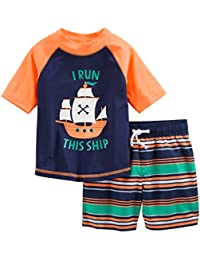 Boys' 2-Piece Swimsuit Trunk and Rashguard