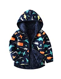 Baby Boys Polar Fleece Jackets Hoodie Jackets Reversible Coats Spring Outerwear