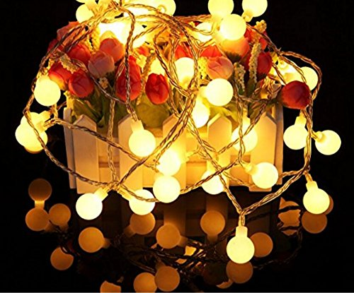Cheap  Outdoor Globe String Lights 33ft 100 LED Fairy Twinkle Lights with Timer-UL..