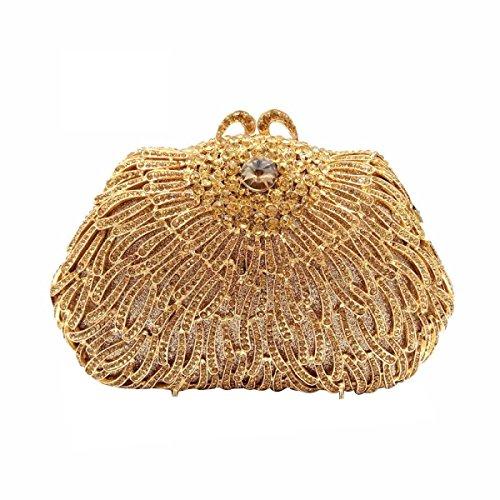 De Des De Femmes gold Gamme Sac Paquet Banquet à Sac Main Haut Soirée Diamant qXd8RX