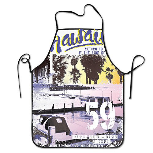 XIUHUA Kitchen Aprons Vintage Hawaiian Islands Cute Aprons F