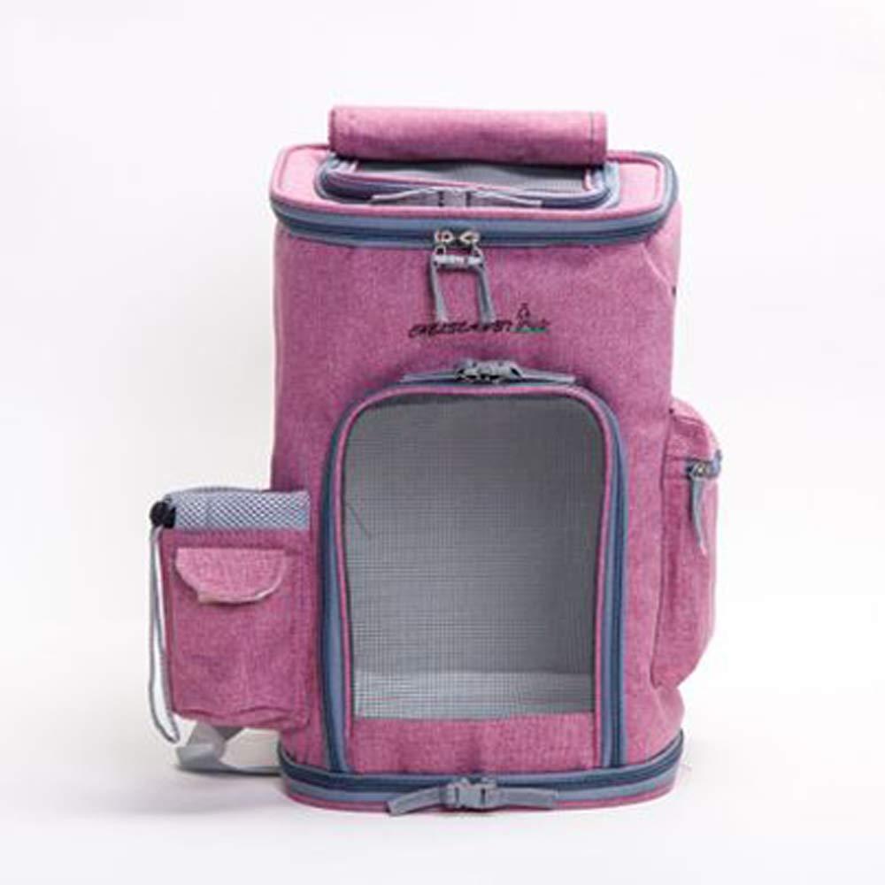 Pink Breathable cat dog out portable backpack not deformed pet backpack cat bag rabbit rabbit Teddy dog bag brigade