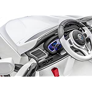 SPORTrax-Luxury-Kids-Ride-On-Car-2-Seater-Battery-Powered-Remote-Control-wFREE-MP3-Player-White