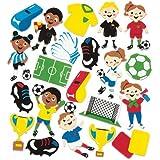 """Baker Ross Moosgummi-Aufkleber """"Fußball"""" für Kinder Zum Verzieren von Karten und Collagen (120 Stück)"""