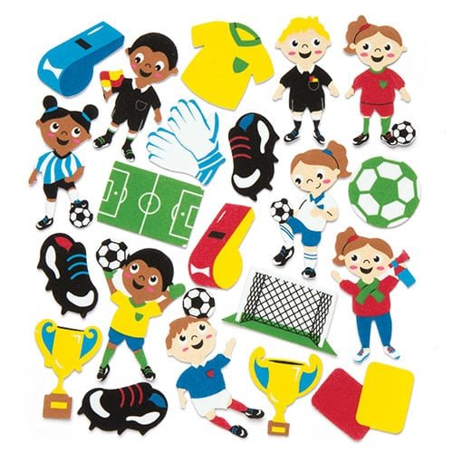 Decorate Your Own Soccer Ball (Baker Ross Soccer Foam Stickers (Pack of 120) Kids to Decorate Arts, Crafts, Cards, &)