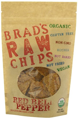 Brad's Organic Raw Chips, Red Bell Pepper, 3 Ounce (Dehydrated Scallions compare prices)