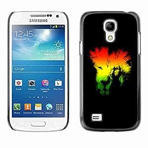 Planetar® ( Rasta Lion ) Fundas Cover Cubre Hard Case Cover Samsung Galaxy S4 MINI / i9190 / i9192