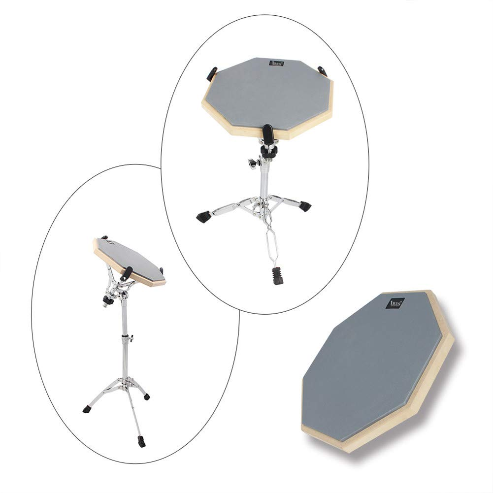 AKDSteel 12 Inch Wooden Dumb Drum Practice Training Drum Pad for Jazz Drums Exercise by AKDSteel