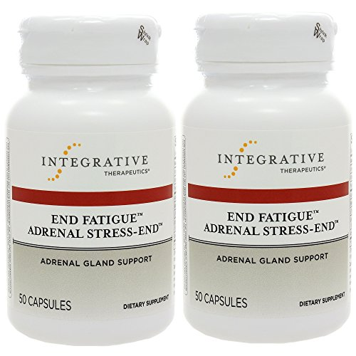 End Fatigue Adrenal Stress-End by Integrative Therapeutics - 50 capsules - Discount 2 pack (100 caps) Licorice Root Adrenal Fatigue