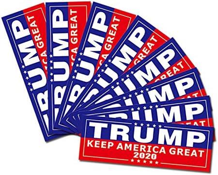 Trump 2020 Bumper Stickers Trump 2020 Trump 2020 Car Decals BlueRepublik Trump 2020 Stickers- 12 Pack Trump Bumper Stickers Printed in America with No-Fade Weatherproof UV Inks.