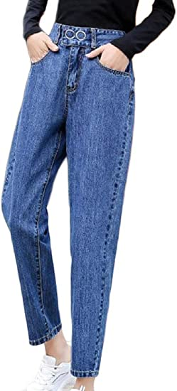 gawaga レディース ルーズ バギー ヒッピー デニム ハーラン カジュアル パンツ ポケット付きパンツ