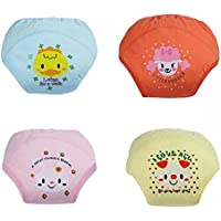 Adorable Toddler Potty Training Pants for Baby Boys and Girls,Size for 9 Months to 3 Years,Pure Cotton,4 Pack