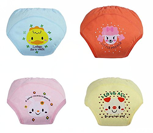 Adorable Toddler Potty Training Pants for Baby Boys and Girls,Size for 9 Months to 3 Years,Pure Cotton,4 Pack (2Year-3 Year, G)