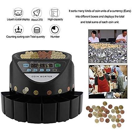 Wenwenzui-IT Macchina di conteggio della valuta dei Contanti dei Soldi del selezionatore di Moneta del contatore della Moneta Elettronica