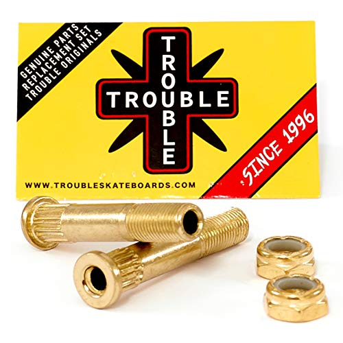TROUBLE SKATEBOARDS Kingpin Truck Hardware Screw Bolt Nuts • Hollow Light Set - Bolt Hollow