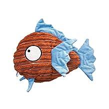 Kong Cuteseas Fish Soft Snuggly Squeaker Crinkle Interactive Fun Pet Toy Medium(PS)