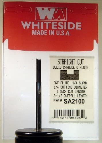 Whiteside Router Bits SC90 Solid Carbide Fiberglass Bit with 1//4-Inch Cutting Diameter and 3//4-Inch Cutting Length