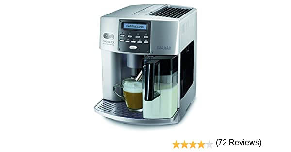 DeLonghi Magnifica ESAM 3600 Independiente Totalmente automática Máquina espresso 1.8L 14tazas Acero inoxidable - Cafetera (Independiente, 1.8 L, Molinillo integrado, 1350 W, Acero inoxidable): Amazon.es: Hogar