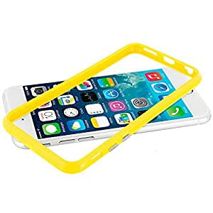 Accessory Planet(TM) Yellow TPU Bumper Frame with Metal Buttons Case Cover for Apple iPhone 6 (4.7) wangjiang maoyi